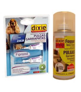 Kit 5 pulgas y garrapatas, perros medianos 10 - 20 kg.