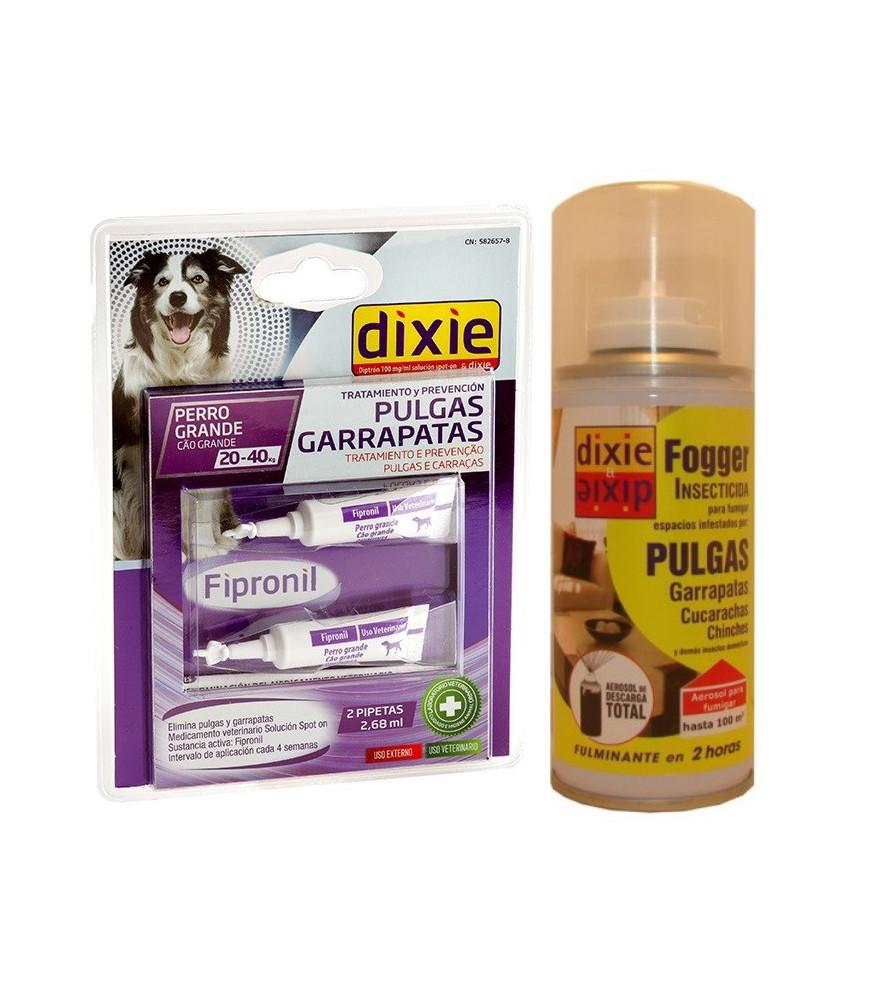 Kit 6 pulgas y garrapatas, perros grandes 20 - 40 kg.