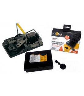 Kit 3 Portacebos de alta seguridad + cepo para ratones