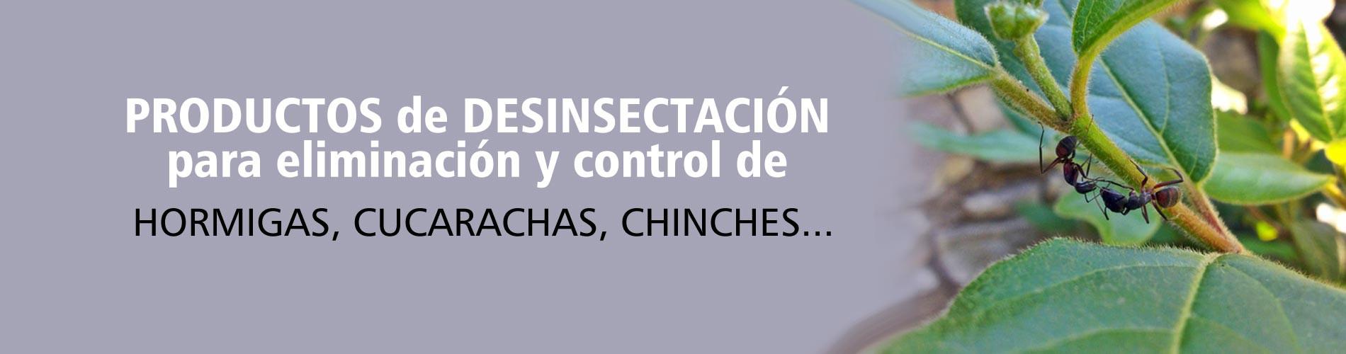 Productos de desinsectación para eliminación y control de Plagas